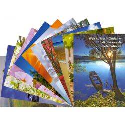 Koerdisch-Kurmanji, Ansichtkaart met Bijbeltekst, Diverse