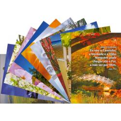 Portugees, Ansichtkaart met Bijbeltekst, Diverse