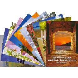 Sloveens, Ansichtkaart met Bijbeltekst, Diverse