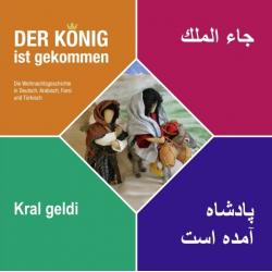 Brochure, De Koning is gekomen, Renate Windisch, Meertalig