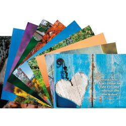 Albanees, Ansichtkaart met Bijbeltekst, Diverse