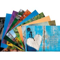 Tsjechisch, Ansichtkaart met Bijbeltekst, Diverse