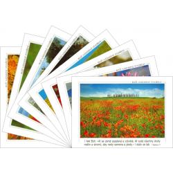 Tsjechisch, Ansichtkaarten met Bijbeltekst, Set van 8 stuks