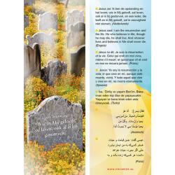Arabisch, Boekenlegger, Wie in Mij gelooft zal leven, Meertalig