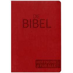 Duits, Bijbel, Hoffnung für alle, Medium formaat, Luxe uitgave, Rood