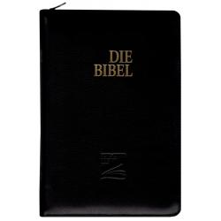 Duits, Bijbel, Schlachter 2000, Groot formaat, Duitse BIJBEL,  Groot formaat, Kalfsleren kaft met rits, Goudsnede