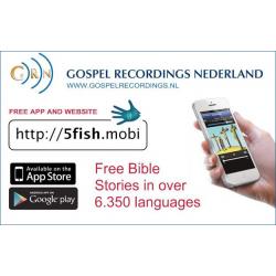Uitdeelkaartje, App voor Bijbelverhalen, Meertalig