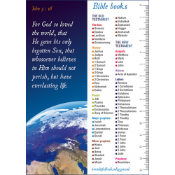 Engelse Boekenlegger,  Joh. 3 vers 16