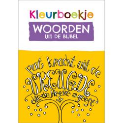 Nederlands, Kleurboek Woorden uit de Bijbel, Gerda Hiemstra-Oudenampsen