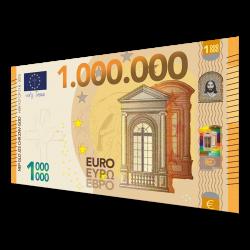 Nederlands, Uitdeelkaartje, Het 1 miljoen euro biljet