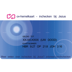 Nederlands, Uitdeelkaartje, OV-Hemelkaart