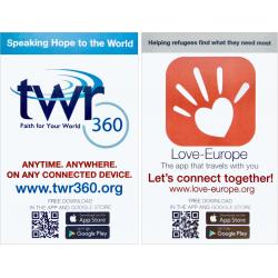 Meertalig, Uitdeelkaartje, Gods Woord in uw eigen taal