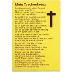 Duits, Uitdeelkaartje, Pocketkruisje
