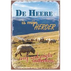 Magnetisch Tekstbord, De Heere is mijn Herder, mij zal niets ontbreken