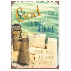 Magnetisch Tekstbord, God is heel dichtbij, ook als je het niet voelt