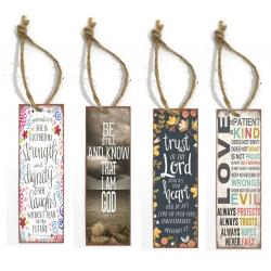 Engels, Boekenlegger, Metaal met Bijbelspreuk