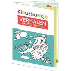 Nederlands, Kinderkleurboek, Verhalen die Jezus vertelde, Gerda Hiemstra-Oudenampsen