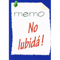 Papiaments, Traktaat, Memo No lubidá!