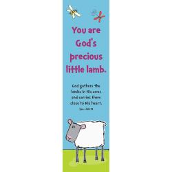 Engels, Boekenlegger, You are God's precious little lamb