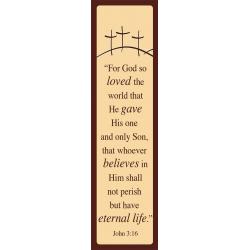 Engels, Boekenlegger, For God so loved - John 3:16