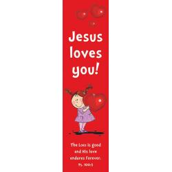 Engels, Boekenlegger, Jesus loves you!