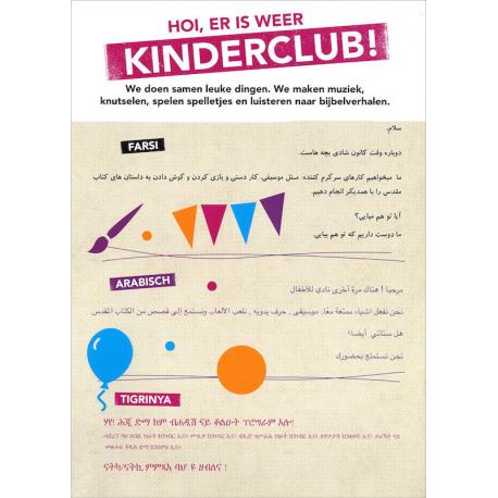 Nederlands, Kinderclub, Uitnodiging, Meertalig