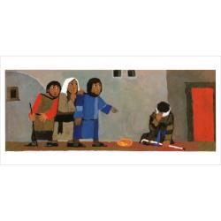 Kindermateriaal, Vertelplaten, Wat de Bijbel ons vertelt: Bartimeüs, Kees de Kort, Meertalig