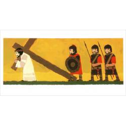 Kindermateriaal, Vertelplaten, Wat de Bijbel ons vertelt: Jezus is opgestaan, Kees de Kort, Meertalig