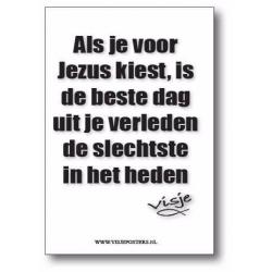 Nederlands, Kaartje, Als je voor Jezus kiest - visje