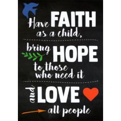 Engels, Kaart, Faith - Hope - Love