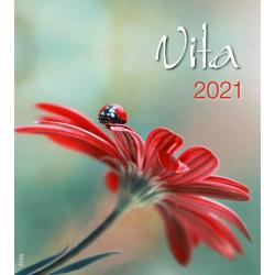 Italiaans, Kalender met Ansichtkaarten LEVEN, 2021