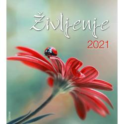 Sloveens, Kalender met Ansichtkaarten LEVEN, 2021