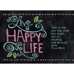 Engels, Kaart, Live happy life, 6 stuks