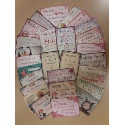 Nederlands, 80 Kaarten met Bijbeltekst, Vintage