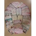 Nederlands, Kaarten met Bijbeltekst, Vintage (28 stuks)