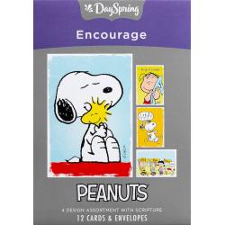 Engels. Kaartenbox, Peanuts