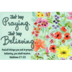 Engels, Tekstkaart, Just Keep Praying