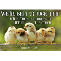 Engels, Tekstkaartje, We're better together!