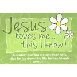 Engels, Tekstkaart, Jesus loves me...this I know!