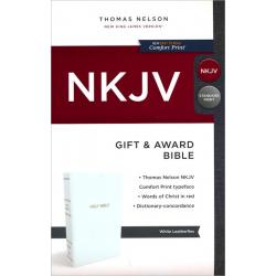Engels, Bijbel, NKJV, Gift & Award, White flex