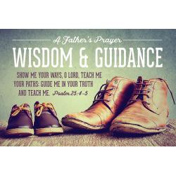 Engels, Kaart, A Father's Prayer - Wisdom & Guidance