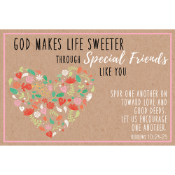 Engels, Kaartje, God makes life sweeter trough Special Friends