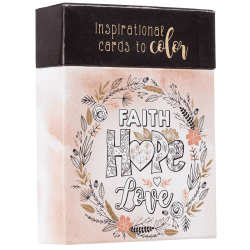 Engels, Box - Faith Hope Love Coloring Cards