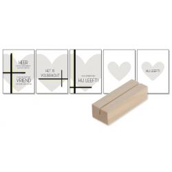 Nederlands, Paaskaarten - set 5 stuks + houder