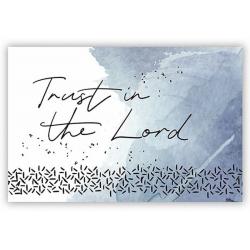 Engels, Tekstkaartje, Trust in the Lord
