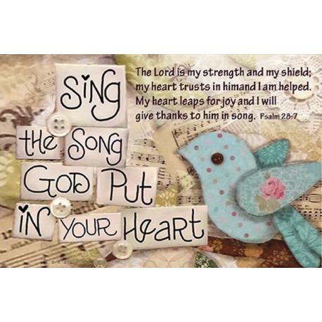 Engels, Tekstkaartje, Sing the Song