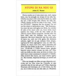 Igbo, Traktaat, Het doel van uw leven, John E. Nome