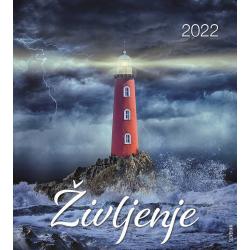 Sloveens, Kalender met Ansichtkaarten LEVEN, 2022