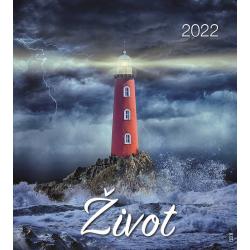 Tsjechisch, Kalender met Ansichtkaarten LEVEN, 2022