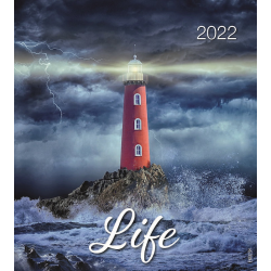 Engels, Kalender met Ansichtkaarten LEVEN, 2022